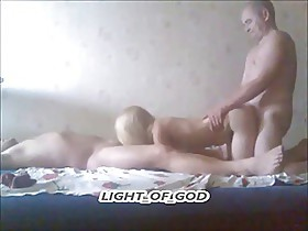 old man to fuck his blonde wife